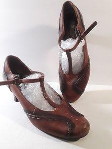 Pikolinos Maryjane Pop Stitched Leather Heels 8